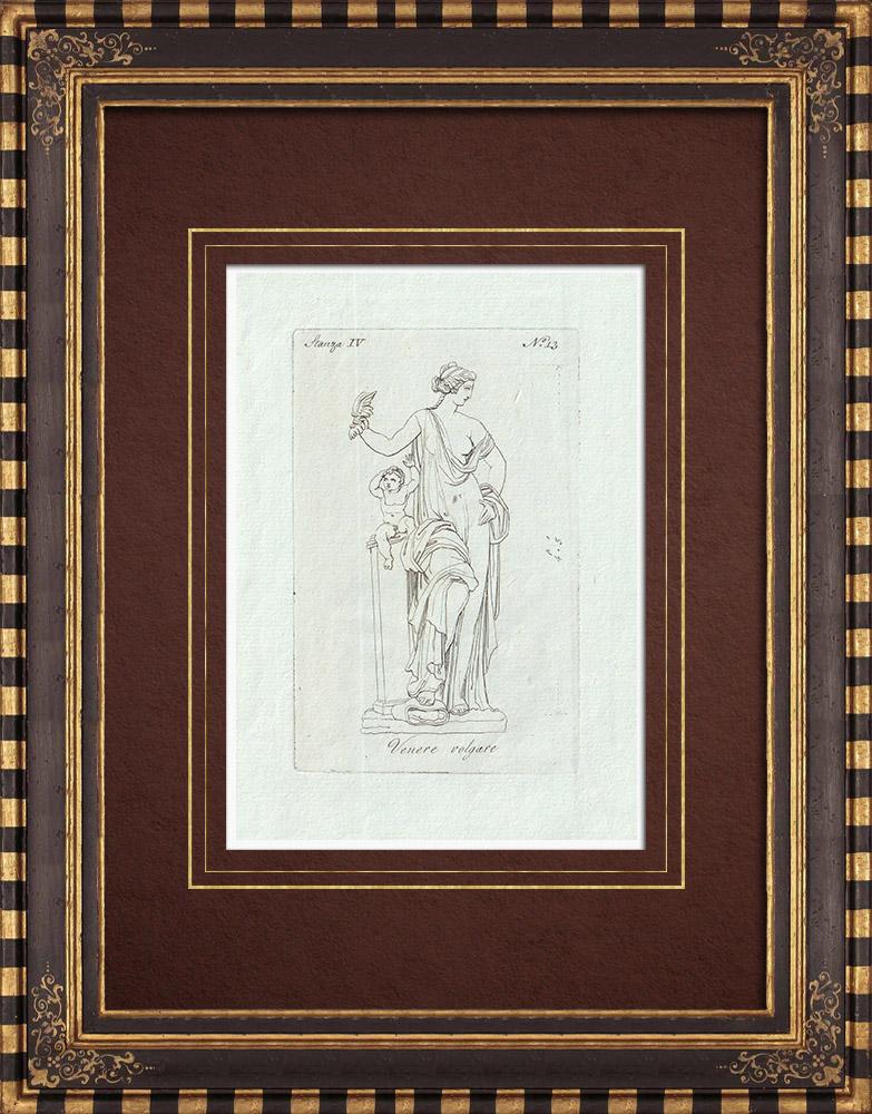 Stampe Antiche & Disegni | Venere volgare - Galleria Borghese - Roma | Incisione su rame | 1796