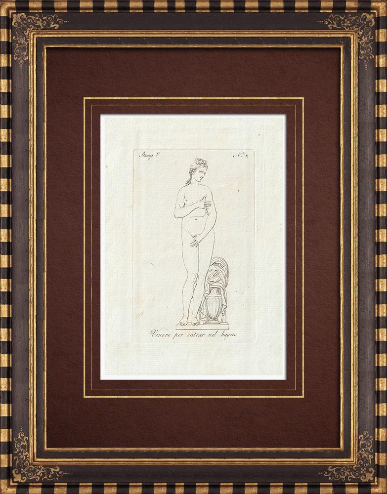 Stampe Antiche & Disegni | Venere entra nel bagno - Galleria Borghese - Roma | Incisione su rame | 1796