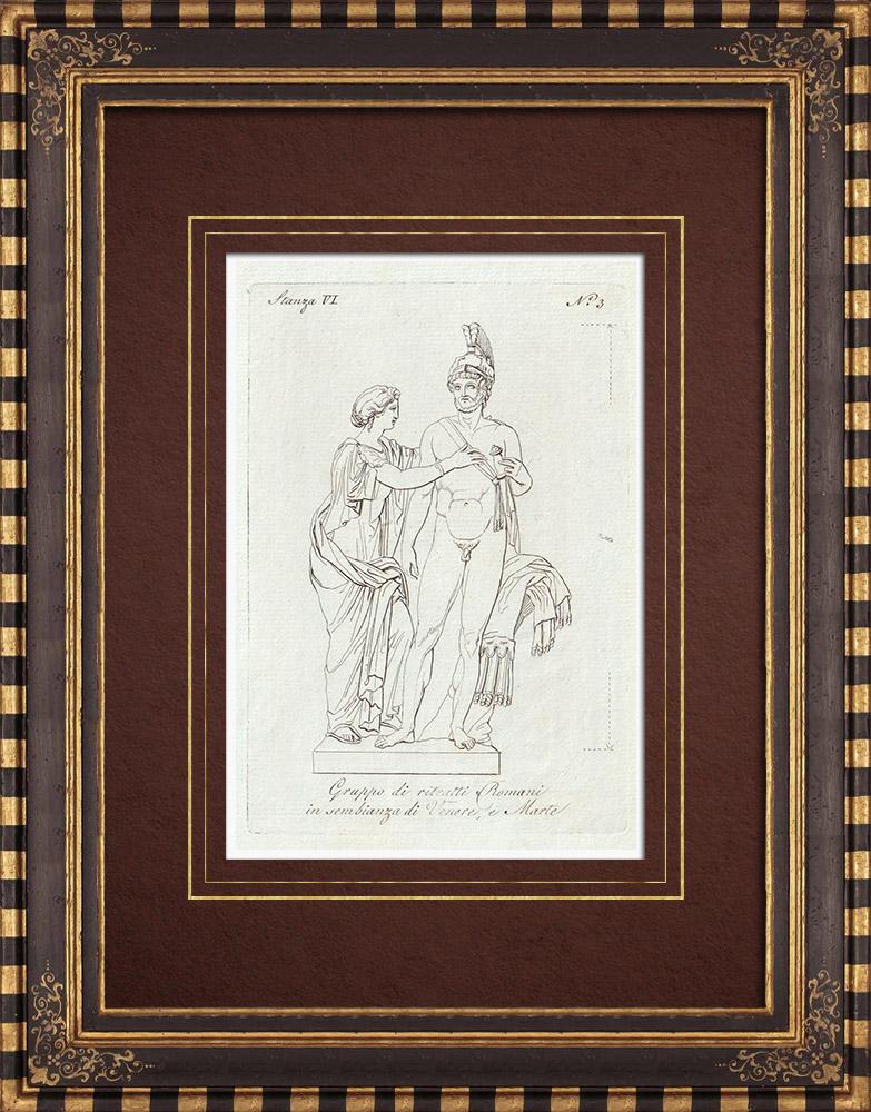 Stampe Antiche & Disegni | Venere e Marte - Galleria Borghese - Roma | Incisione su rame | 1796