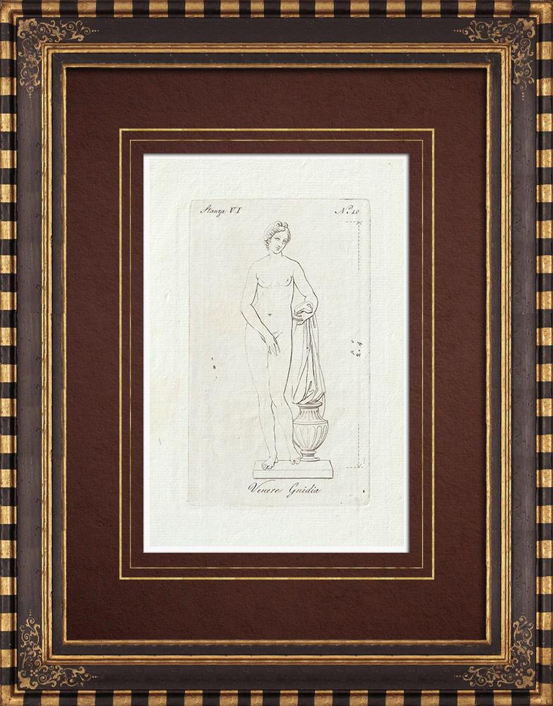 Gravures Anciennes & Dessins | Vénus de Gnidia - Mythologie - Galerie Borghèse - Rome | Gravure sur cuivre | 1796
