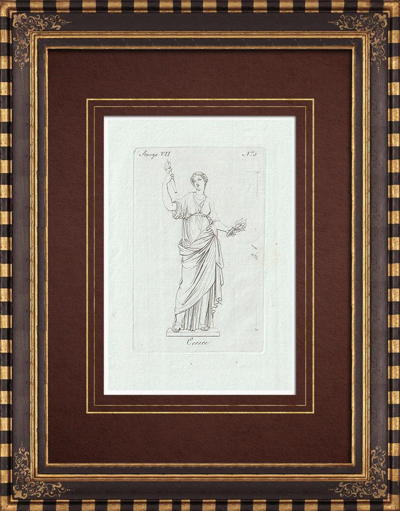 Stampe Antiche & Disegni | Cerere - Galleria Borghese - Roma | Incisione su rame | 1796