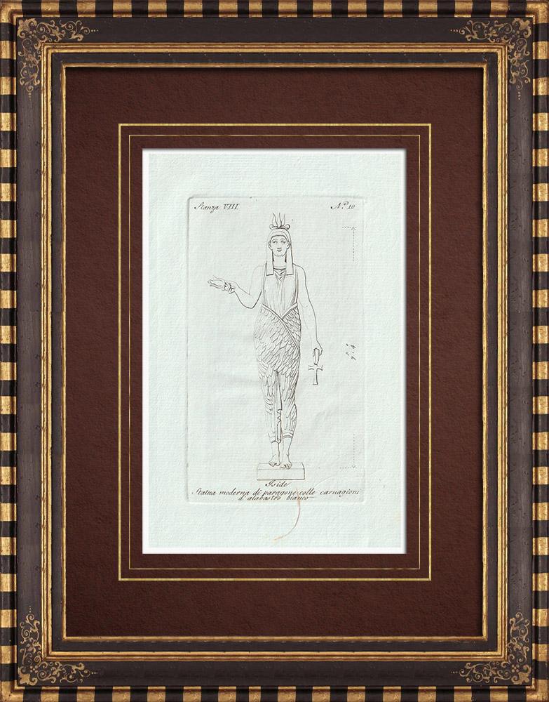 Stampe Antiche & Disegni | Iside - Antico Egitto - Galleria Borghese - Roma | Incisione su rame | 1796