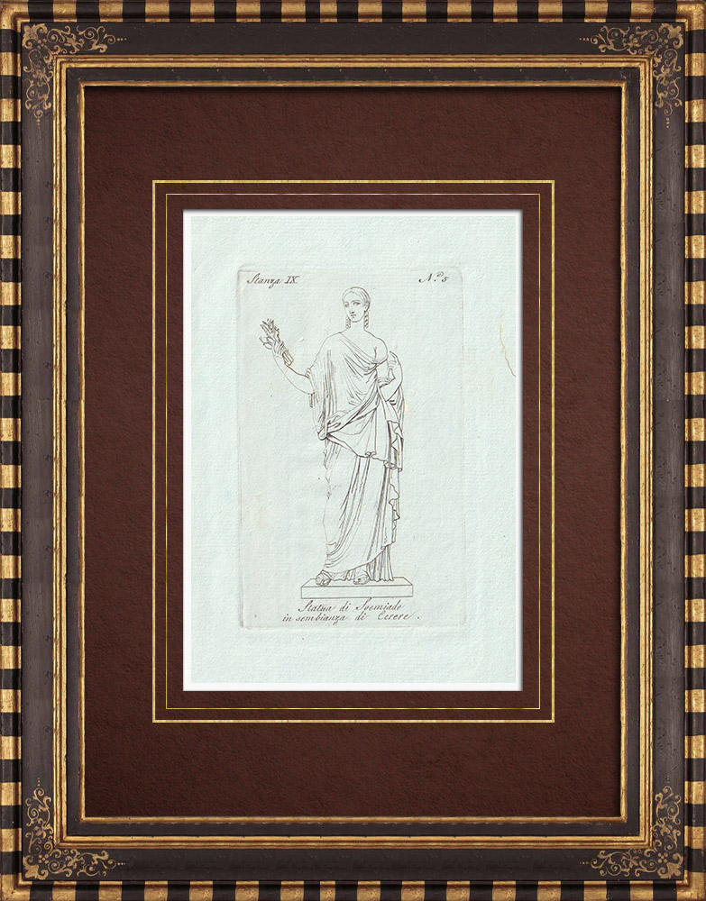 Antique Prints & Drawings | Julia Soaemias - Roman Empress - Galleria Borghese - Rome | Copper engraving | 1796