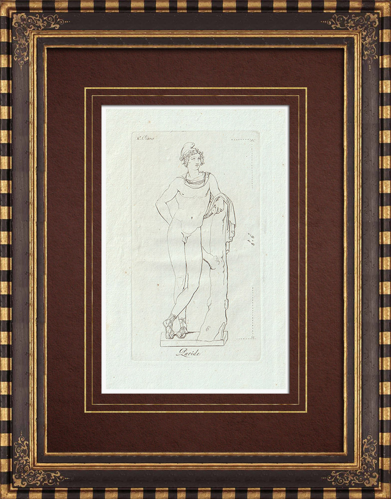 Stampe Antiche & Disegni | Paride, Principe di Troia - Galleria Borghese - Roma | Incisione su rame | 1796