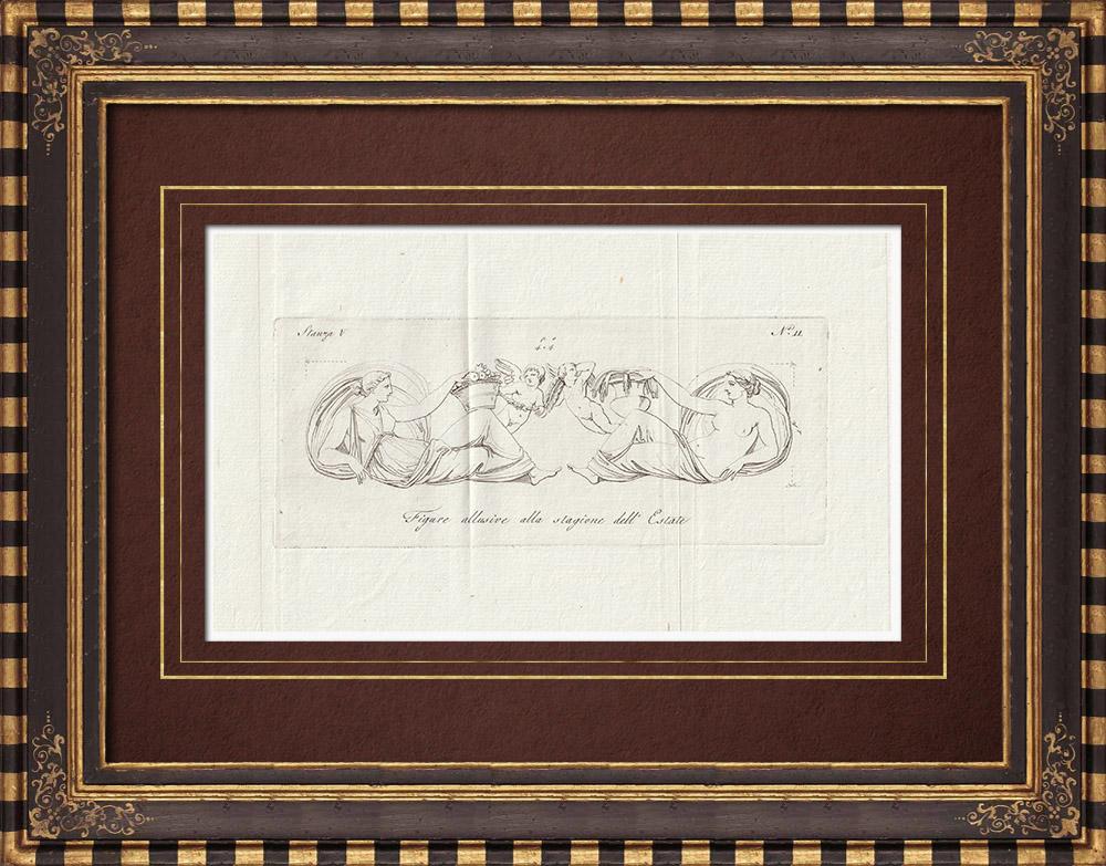 Stampe Antiche & Disegni | Estate - Allegoria - Galleria Borghese - Roma | Incisione su rame | 1796