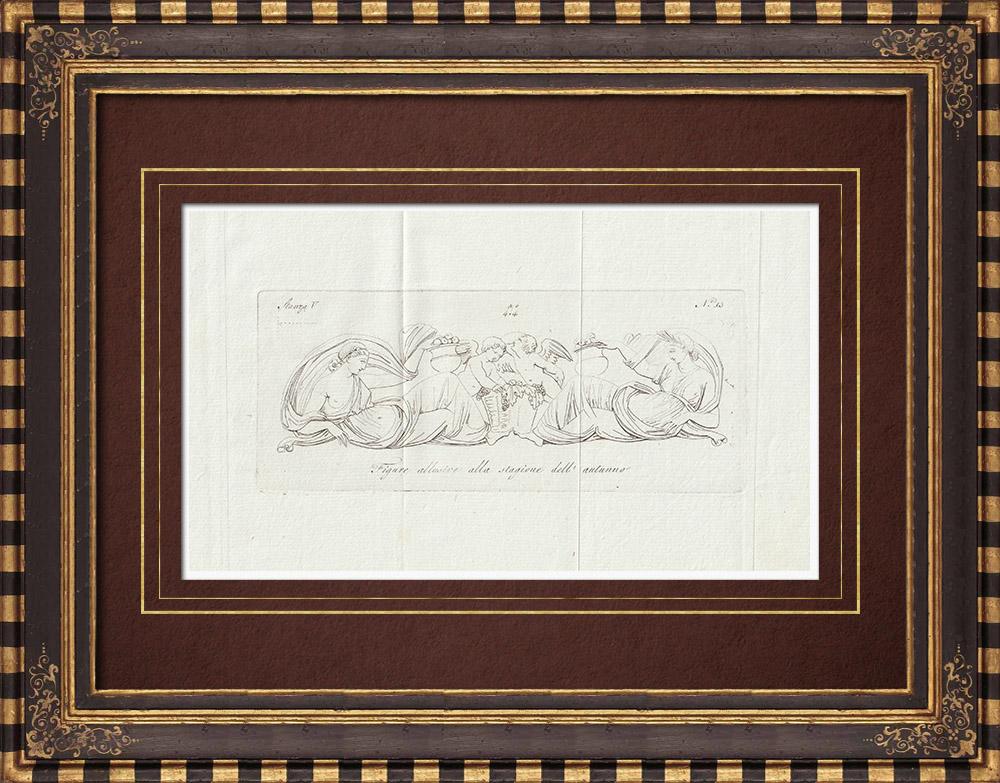 Stampe Antiche & Disegni | Autunno - Allegoria - Galleria Borghese - Roma | Incisione su rame | 1796