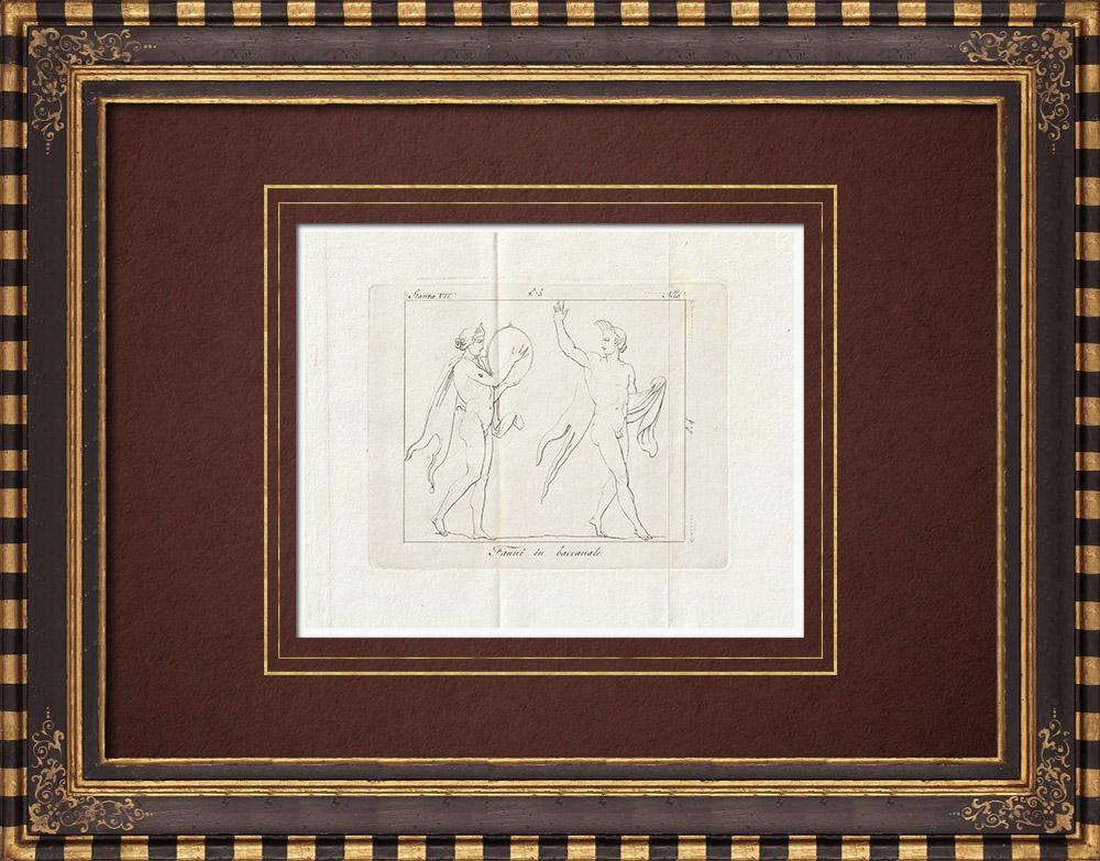 Stampe Antiche & Disegni | Fauna selvatica in un Baccanale - Galleria Borghese - Roma | Incisione su rame | 1796