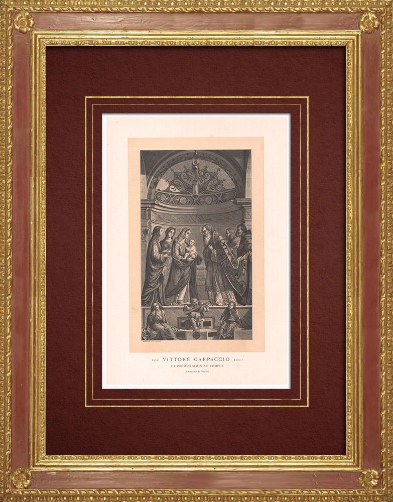 Grabados & Dibujos Antiguos | Presentación en el Templo (Vittore Carpaccio) | Grabado xilográfico | 1870