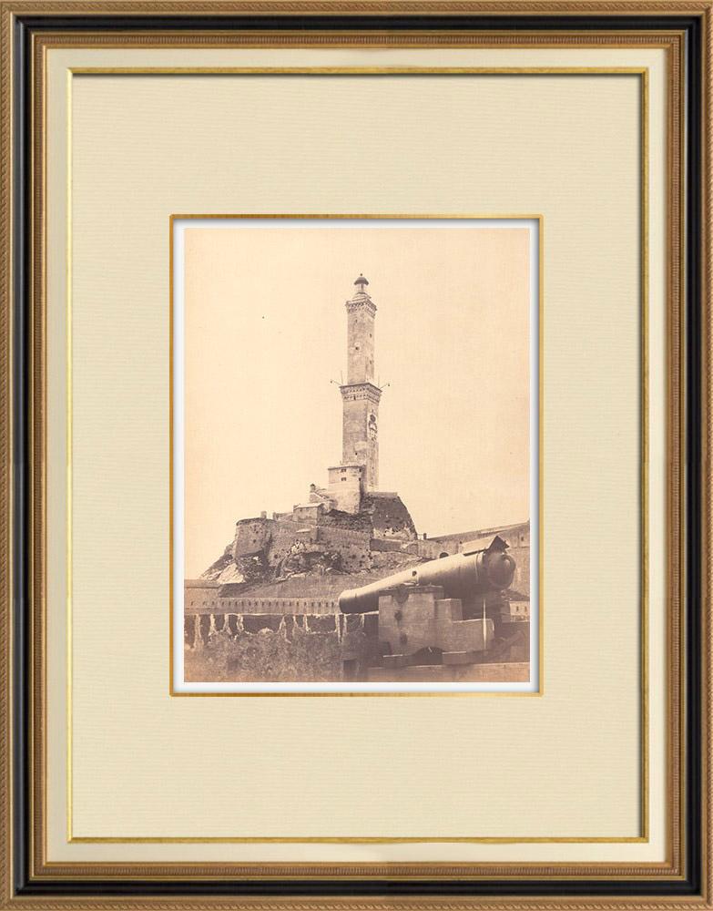 Stampe Antiche & Disegni | Lanterna di Genova - Liguria (Italia) | Fotografia | 1870