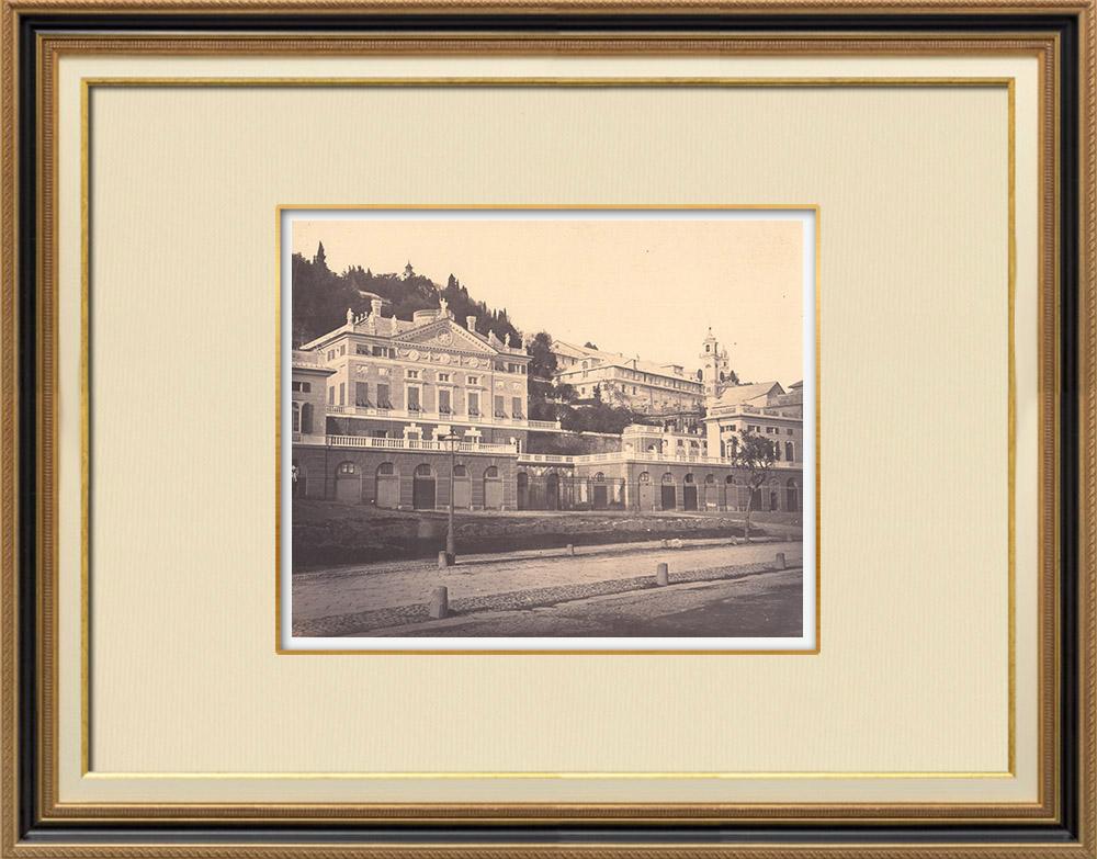 Stampe Antiche & Disegni   Villa Di Negro Rosazza dello Scoglietto - Genova - Liguria (Italia)   Fotografia   1870