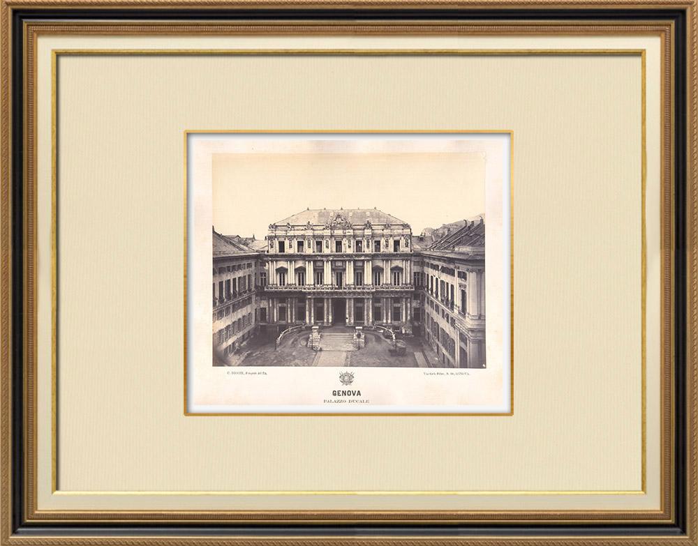 Stampe Antiche & Disegni   Palazzo Ducale di Genova - Dogi - Liguria (Italia)   Fotografia   1870
