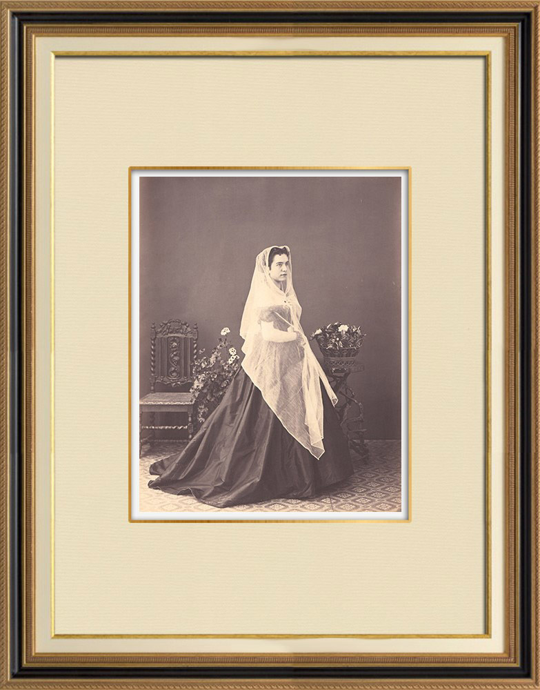 Antique Prints & Drawings | Traditional Costume - Genoa - Liguria (Italy) | Photography | 1870