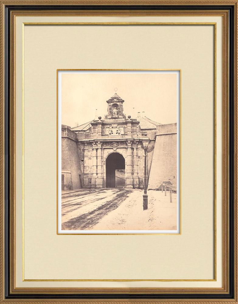 Antique Prints & Drawings | View of Porta Pila - XVIIth Century - Genoa - Liguria (Italy) | Photography | 1870
