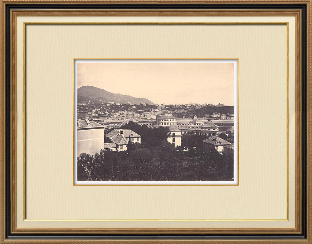 Stampe Antiche & Disegni | Veduta di Genova - Ospedale - Liguria (Italia) | Fotografia | 1870