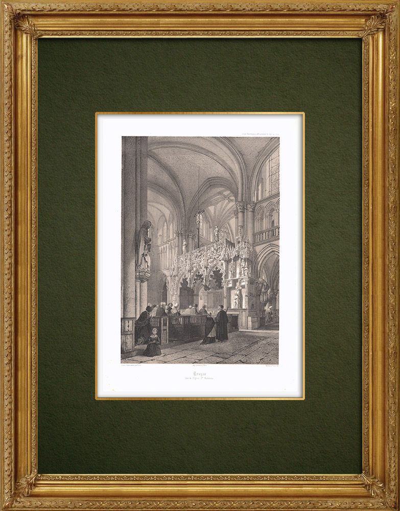 Stampe Antiche & Disegni | Chiesa Maddalena a Troyes (Francia) | Litografia | 1852