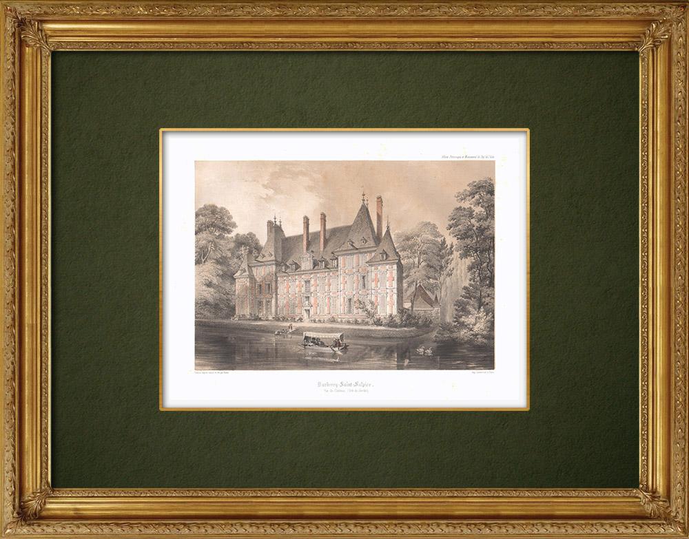 Stampe Antiche & Disegni | Castello di Barberey-Saint-Sulpice - Aube (Francia) | Litografia | 1852