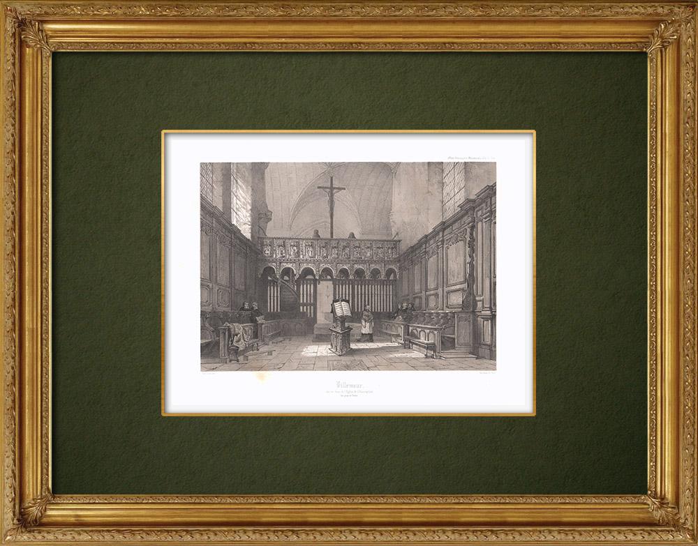 Stampe Antiche & Disegni | Chiesa di Villemaur - Aube (Francia) | Litografia | 1852