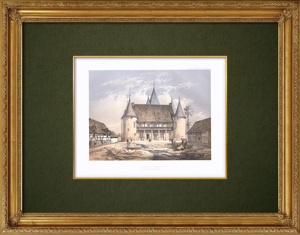 Stampe Antiche & Disegni | Manoir des Tourelles - Rumilly-lès-Vaudes - Aube (Francia) | Litografia | 1852