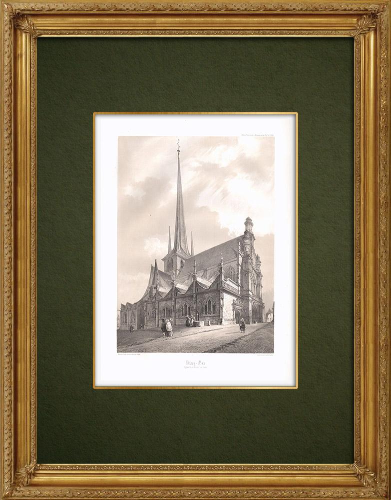 Stampe Antiche & Disegni | Les Riceys - Chiesa di Ricey-Bas - Aube (Francia) | Litografia | 1852