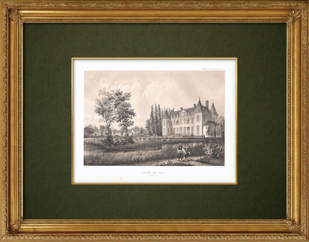 Stampe Antiche & Disegni | Castello di Romilly-sur-Seine - Aube (Francia) | Litografia | 1852