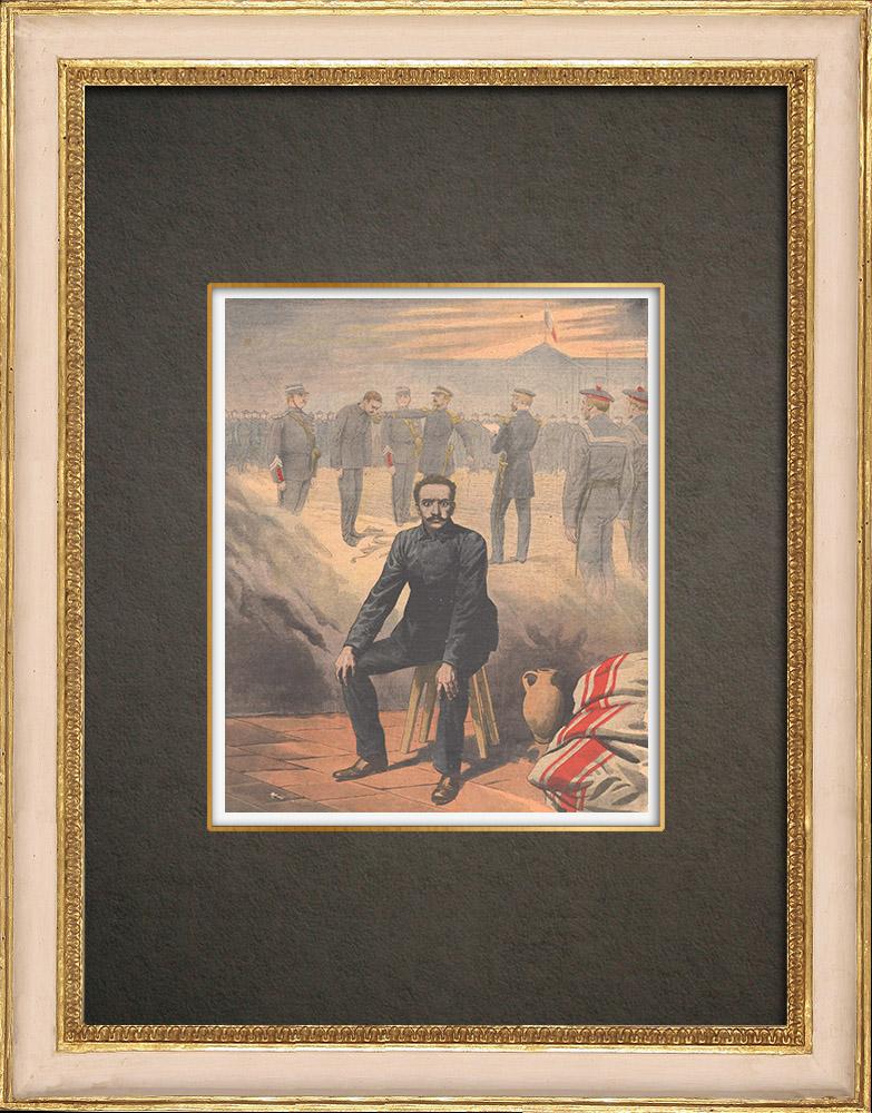 Antique Prints & Drawings   Ullmo affair - Treason - Life imprisonment - Cashiering - 1908   Wood engraving   1908