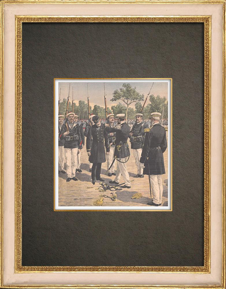 Stampe Antiche & Disegni | Affare Ullmo - Spionaggio - Degrado militare di Charles Ullmo - Tolone - 1908 | Incisione xilografica | 1908