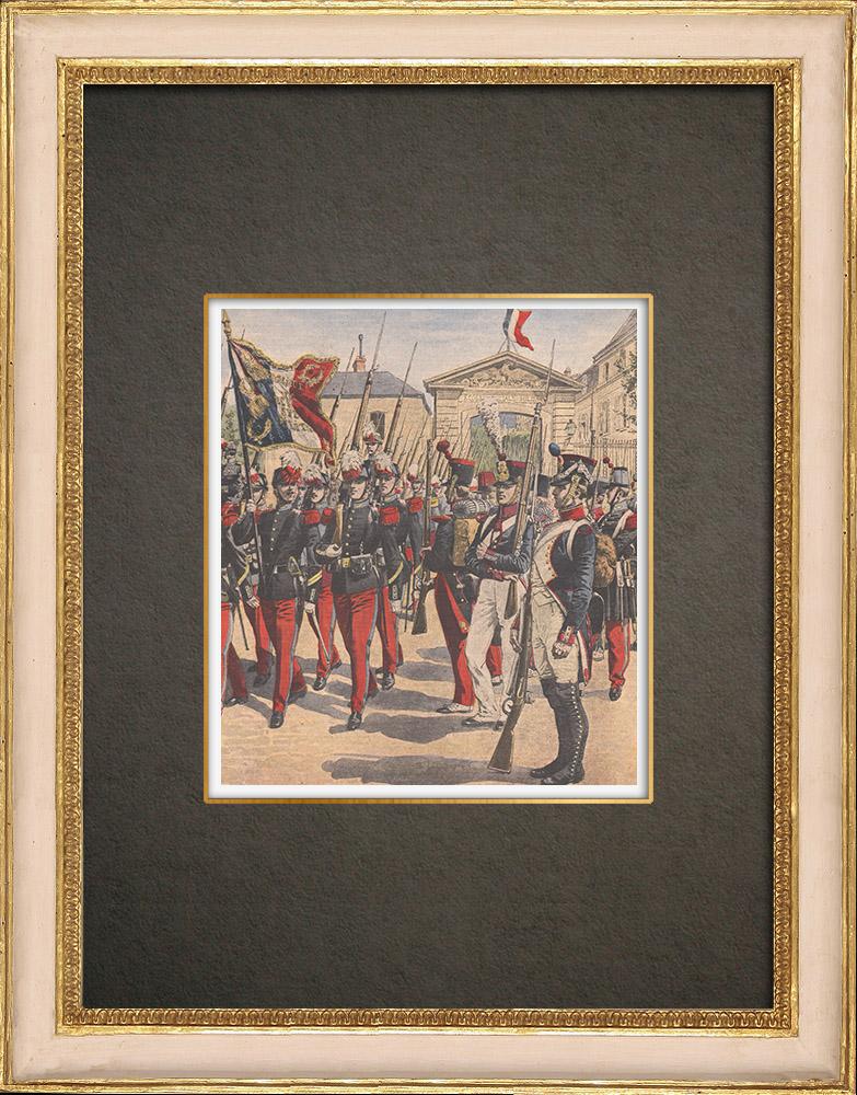 Stampe Antiche & Disegni | Scuola Militare di Saint-Cyr - Napoleone I - Uniforme militare - 1908 | Incisione xilografica | 1908
