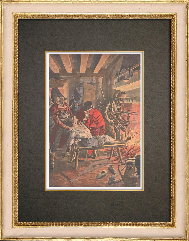Stampe Antiche & Disegni | I Chauffeurs d'Orgères che torturano una vittima - Beauce - 1785-1792 | Incisione xilografica | 1908