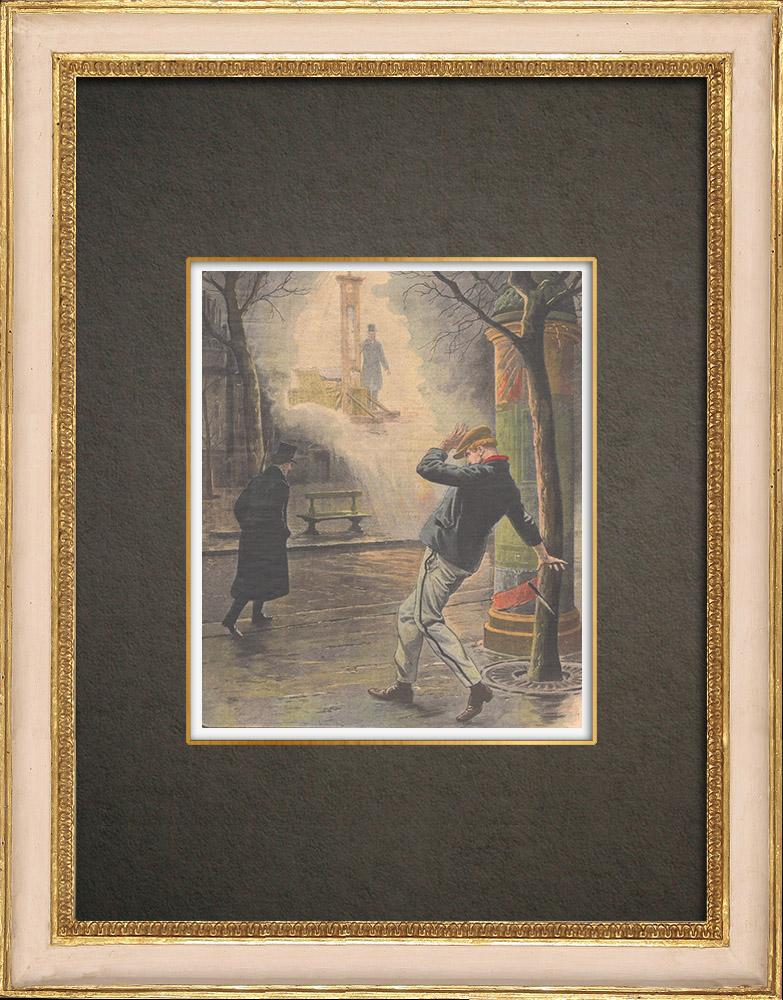 Stampe Antiche & Disegni | La Camera dei deputati vota per mantenere la pena di morte - Francia - 1908 | Incisione xilografica | 1908