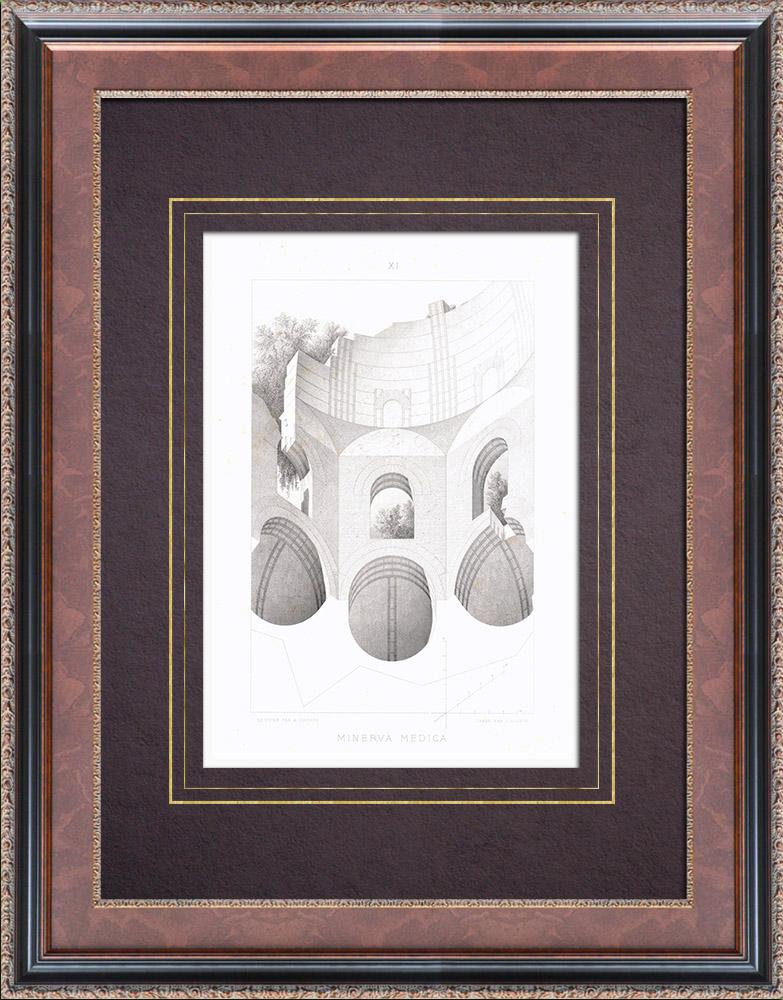 Antique Prints & Drawings | Temple of Minerva Medica - Roman Temple - Nymphaeum - Esquiline Hill - Rome - Vault | Intaglio print | 1873