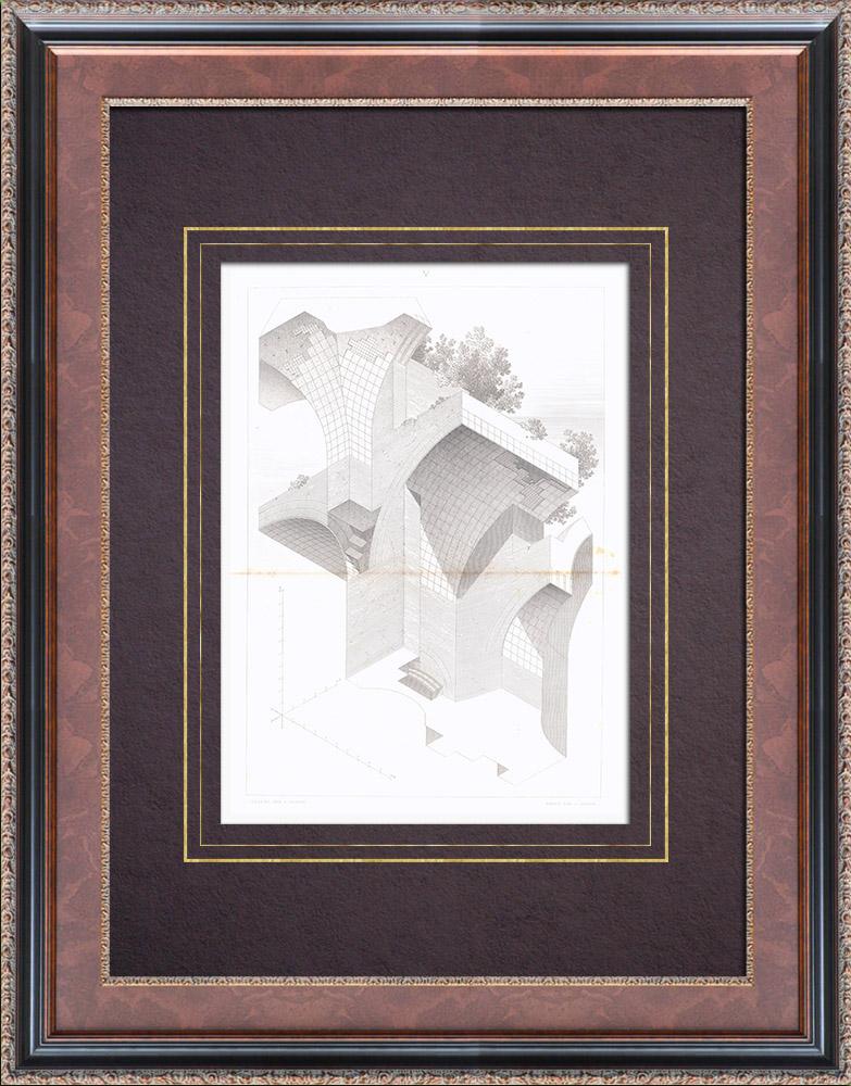 Stampe Antiche & Disegni | Terme di Caracalla - Roma - III Secolo - Volta (Italia) | Stampa calcografica | 1873