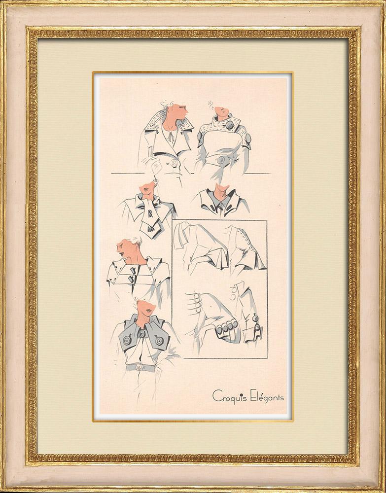 Stampe Antiche & Disegni | Stampa di Moda - Primavera 1935 - Manteau | Stampa | 1935