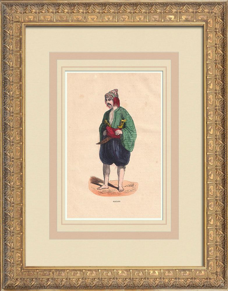 Stampe Antiche & Disegni | Costume di un uomo Bulgaro | Incisione xilografica | 1844