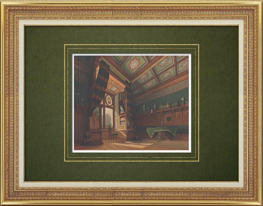 Antique Prints & Drawings   Villa Ravené near Berlin (Germany)   Lithography   1865