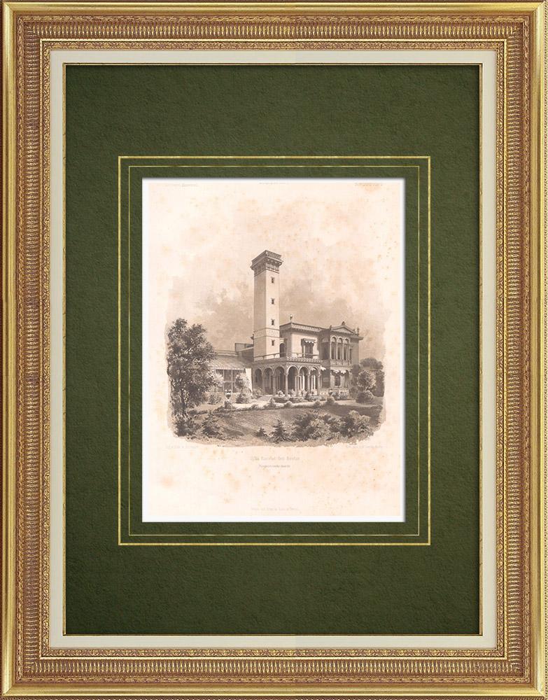 Stampe Antiche & Disegni | Villa Ravené vicino a Berlino (Germania) | Litografia | 1865
