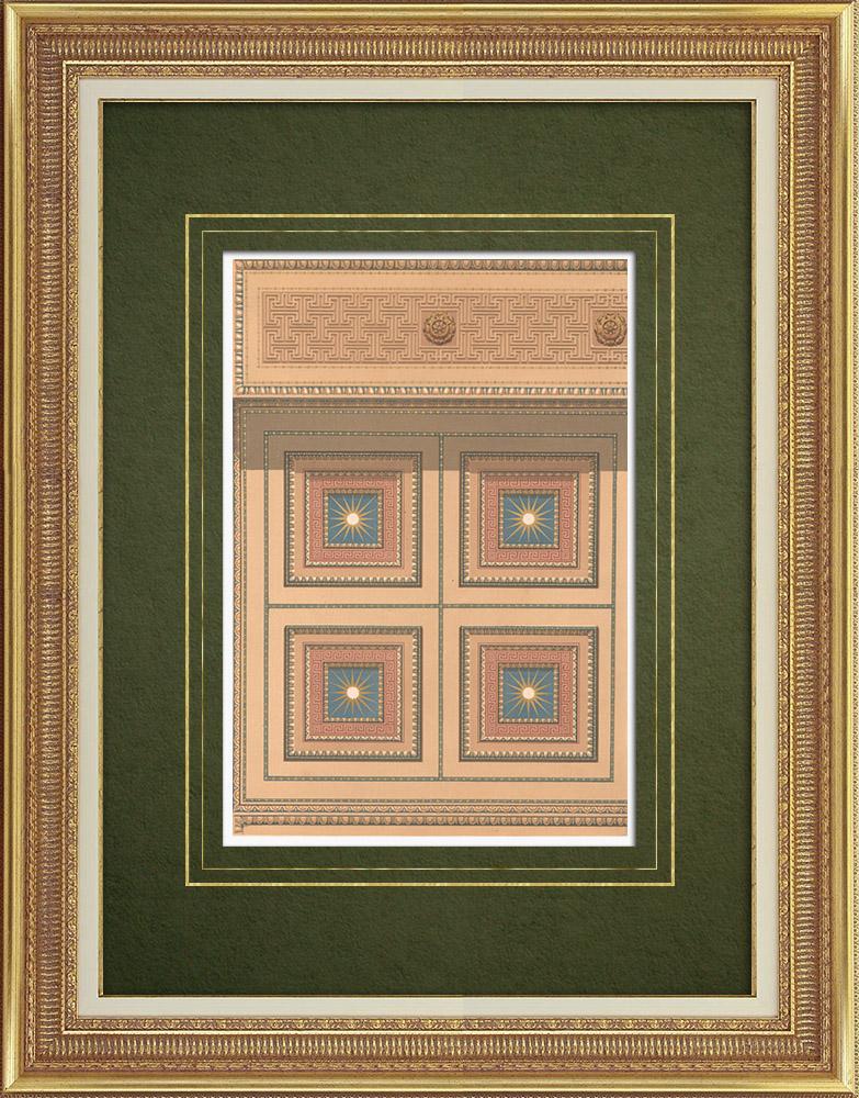 Stampe Antiche & Disegni | Soffitto dell'Peristilio al museo reale di Berlino (Germania) | Litografia | 1867