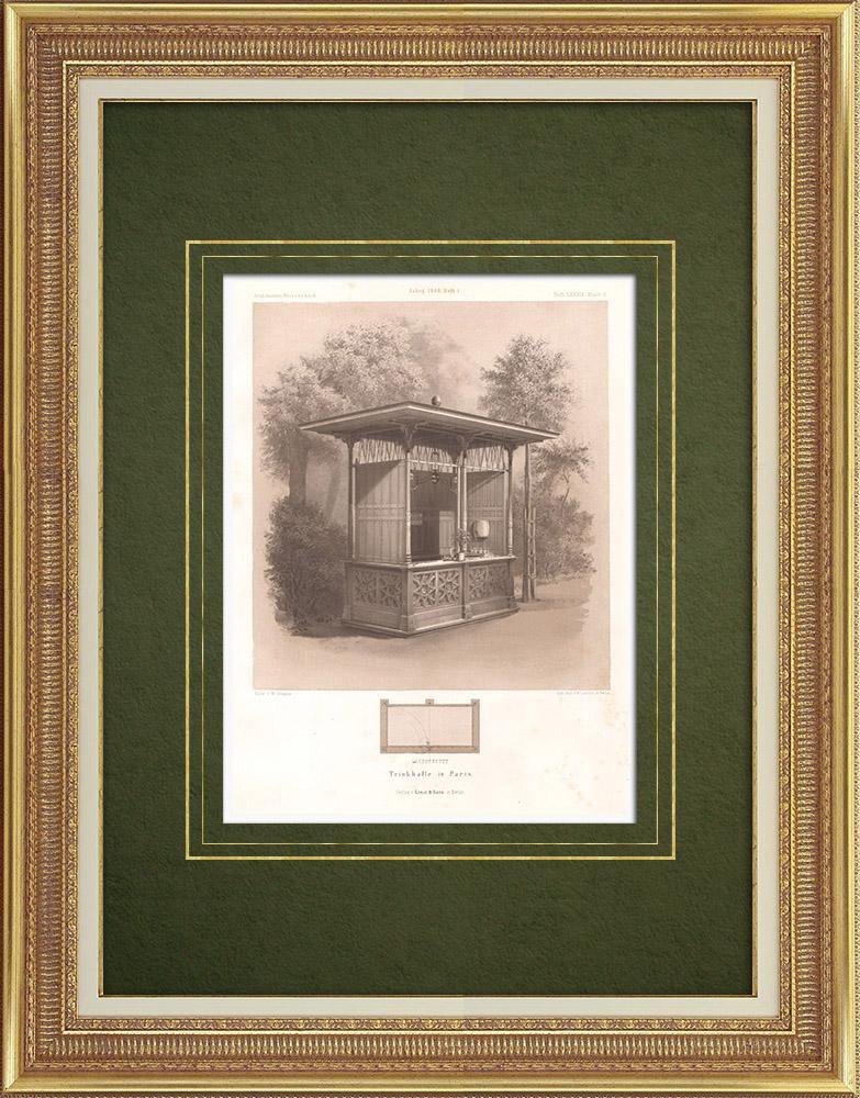 Stampe Antiche & Disegni | Trinkhall a Parigi (Francia) | Litografia | 1865