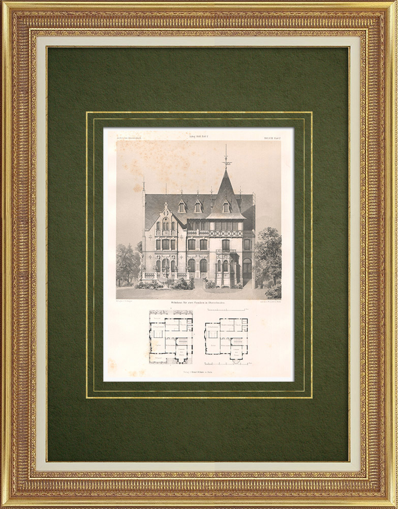 Antique Prints & Drawings | House in Upper Swabia (Germany) | Lithography | 1865
