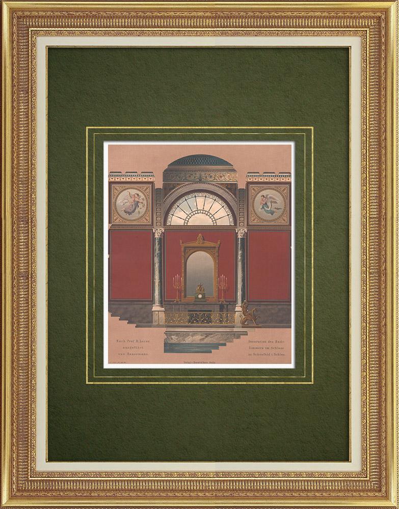 Stampe Antiche & Disegni | Decorazione nel il castello di Schönfeld (Germania) | Litografia | 1865