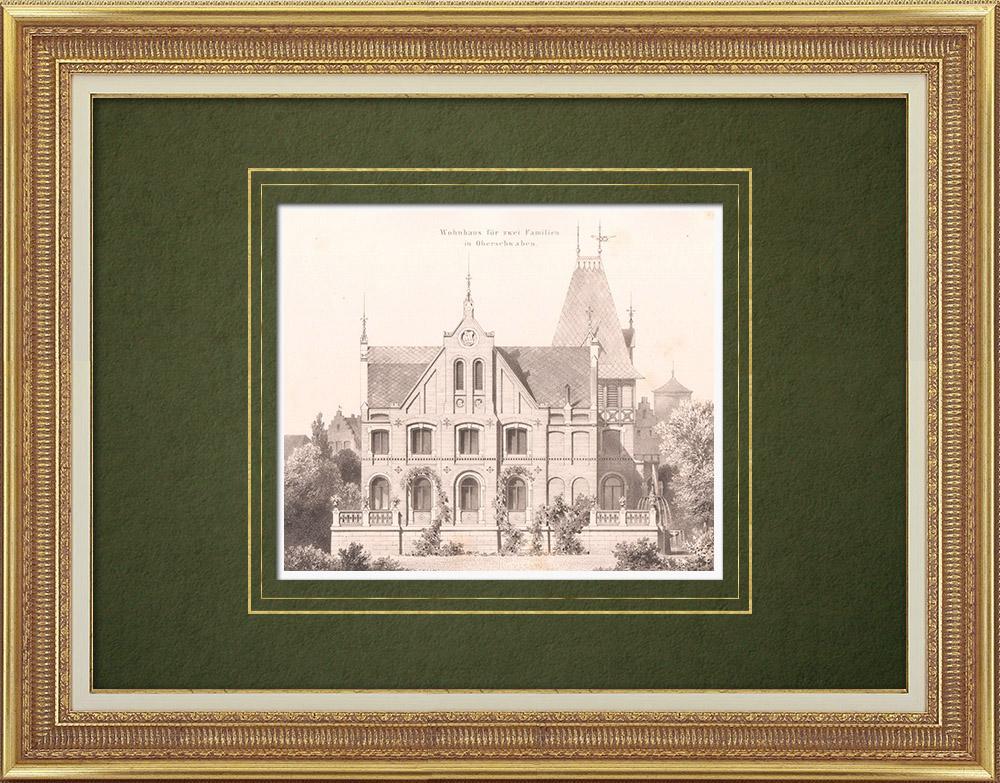 Stampe Antiche & Disegni | Casa in Alta Svevia (Germania) | Litografia | 1865