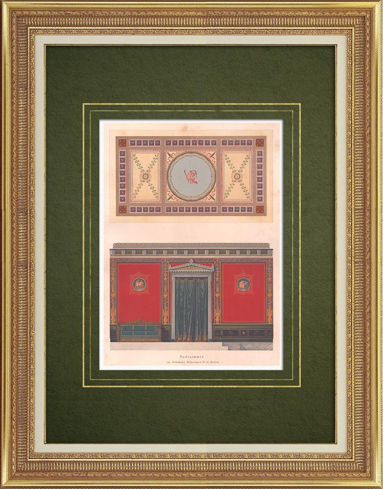 Stampe Antiche & Disegni | Decorazione di un bagno a Berlino (Germania) | Litografia | 1869