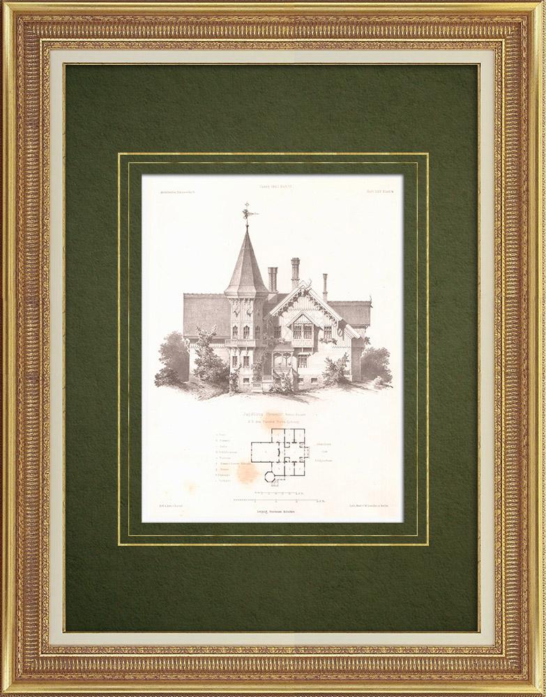 Stampe Antiche & Disegni | Castello a Premnitz (Germania) | Litografia | 1863