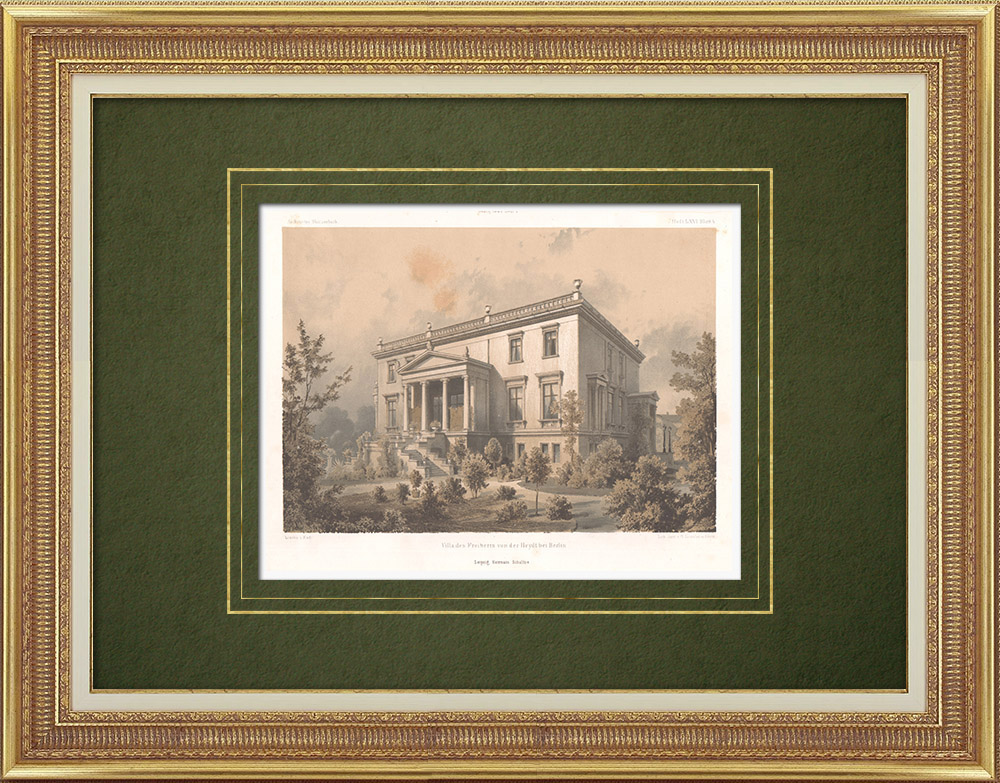 Antique Prints & Drawings   House in Berlin (Germany)   Lithography   1864