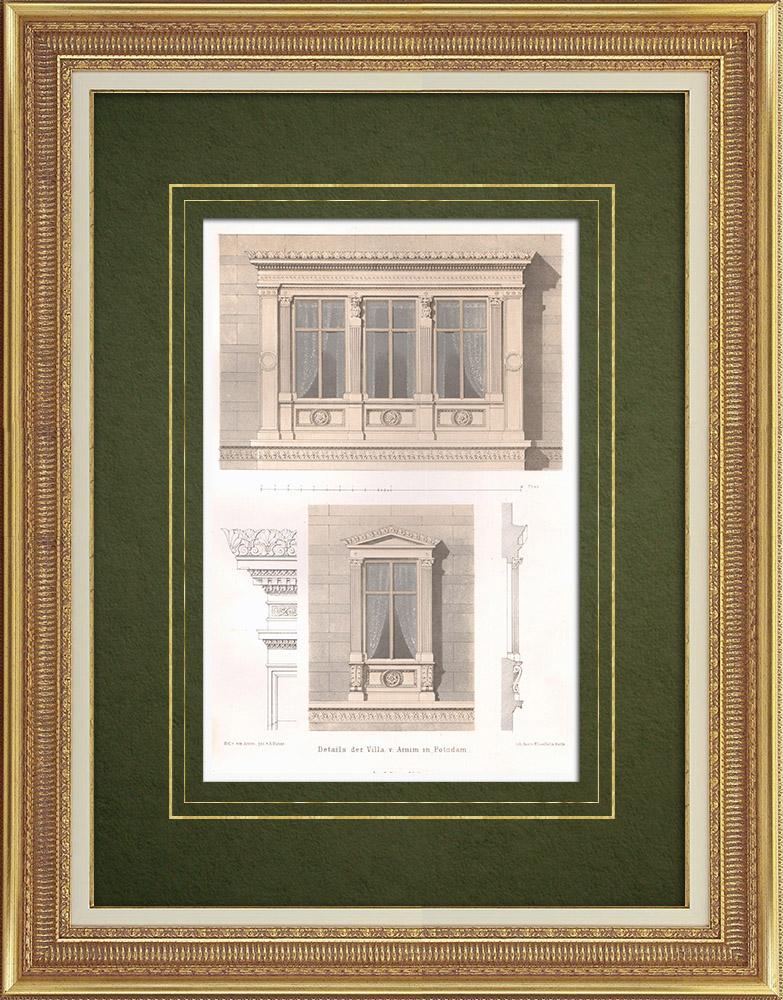 Stampe Antiche & Disegni   Villa Arnim vicino a Sanssouci (Germania)    Litografia   1865