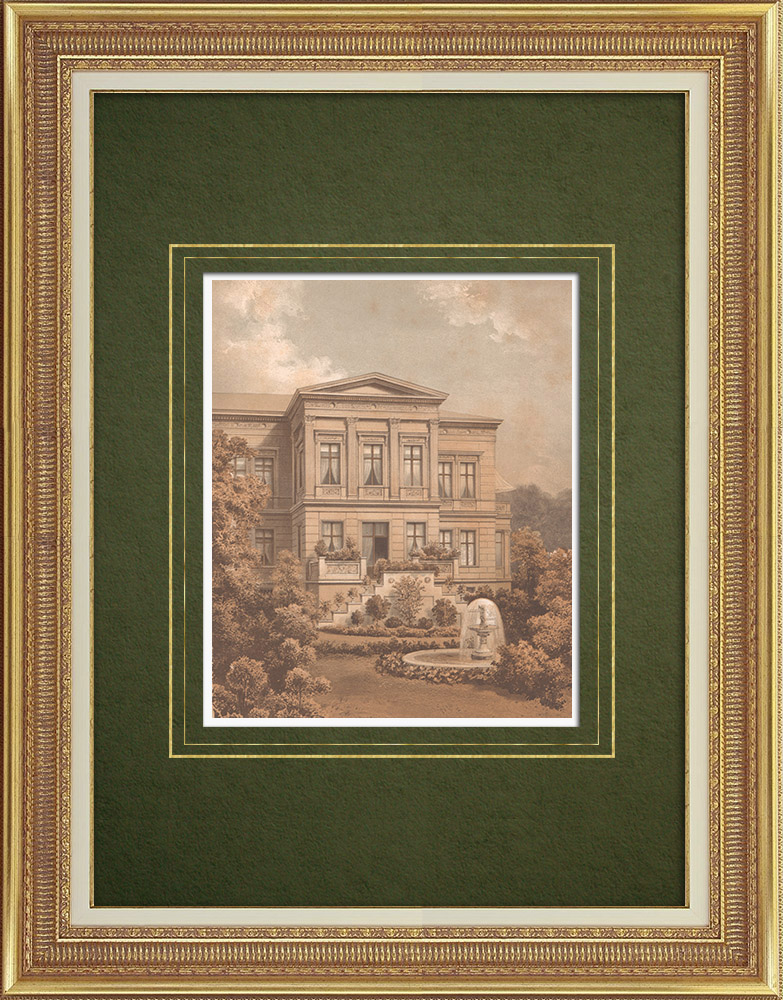 Antique Prints & Drawings   House in Berlin (Germany)   Lithography   1865