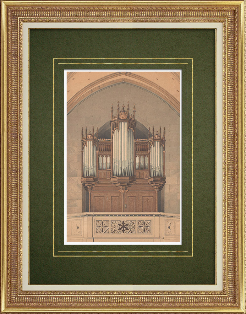 Antique Prints & Drawings | Organ of the Wielkalaka Church near Schönsee (Germany) | Lithography | 1864