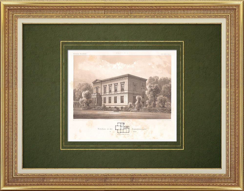 Stampe Antiche & Disegni | Casa in Regenten Strasse a Berlino (Germania) | Litografia | 1865