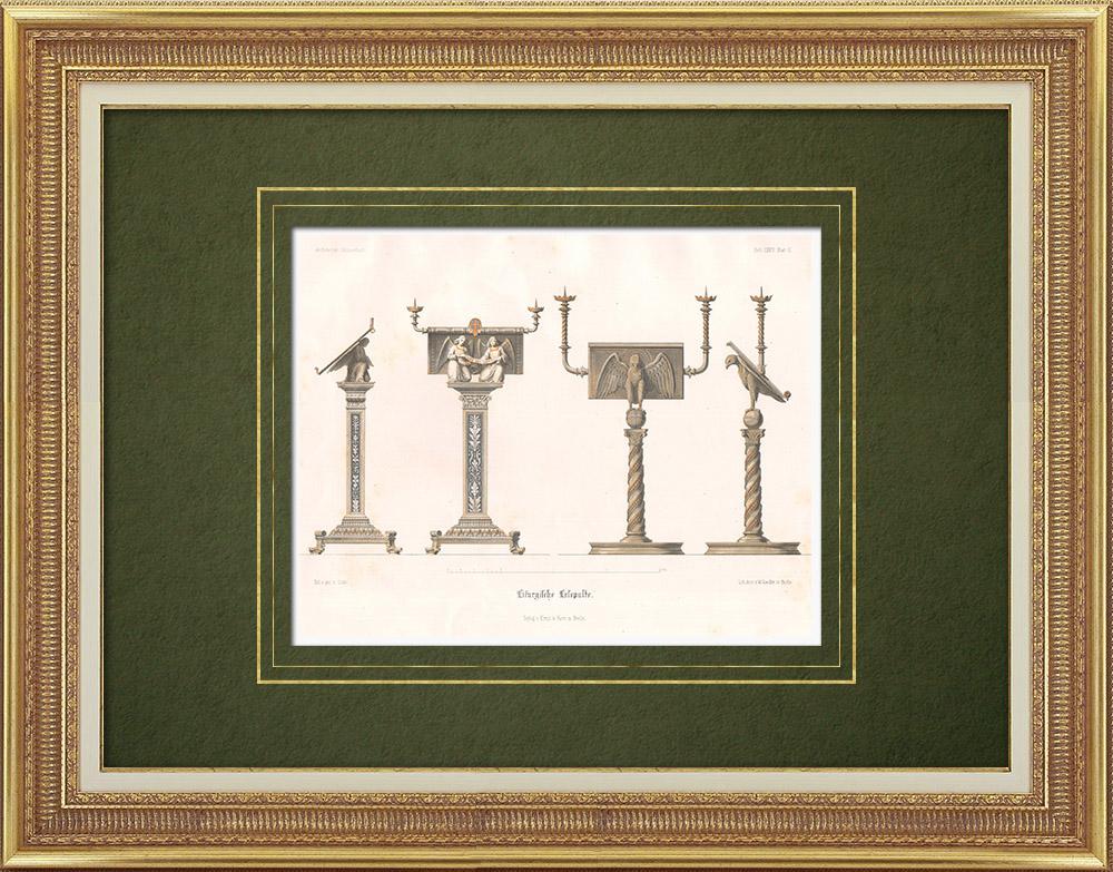 Stampe Antiche & Disegni | Leggio - Mobili liturgici | Litografia | 1865