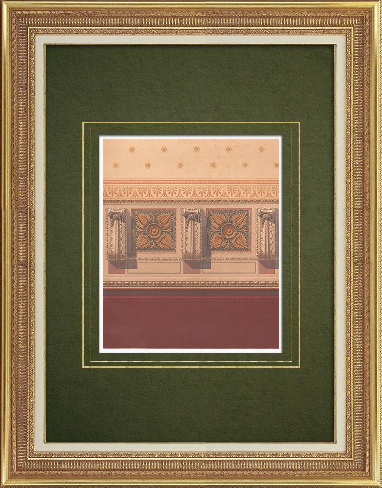 Stampe Antiche & Disegni | Decorazione in una casa a Berlino (Germania) | Litografia | 1865