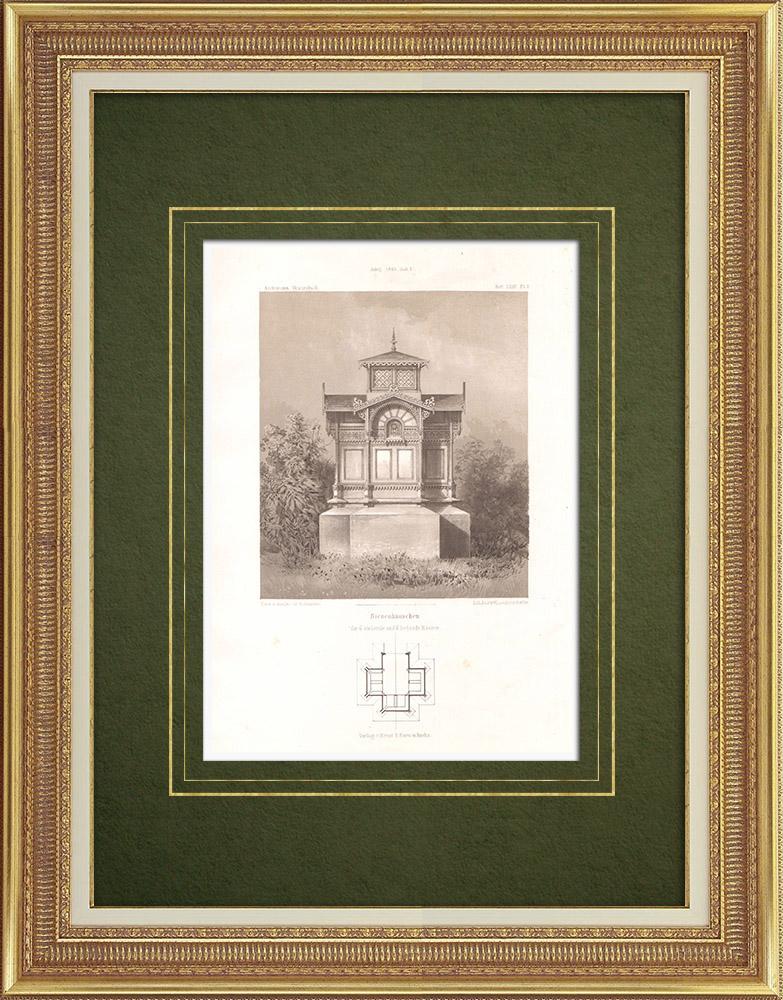 Stampe Antiche & Disegni | Riparo per dodici arnie (Germania) | Litografia | 1865
